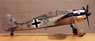 Tamiya's 1/48 Fw-190A-3 modified to Fw-190A-4