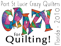 PSL CRAZY QUILTERS GUILD-show logo designed by Karen Marchetti