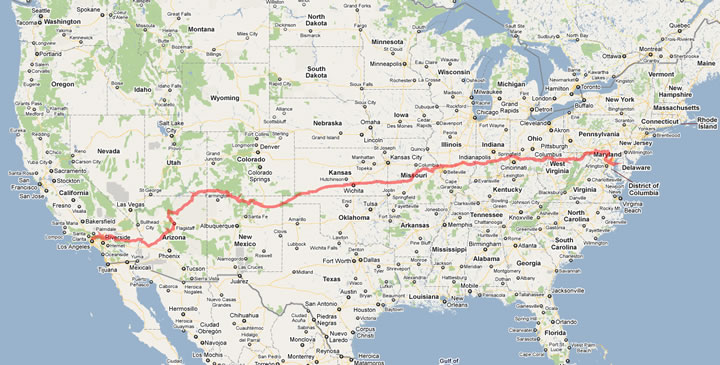 News  A bike trip across America