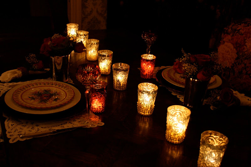 Vignette Design Romantic Valentine Candlelight Dinner