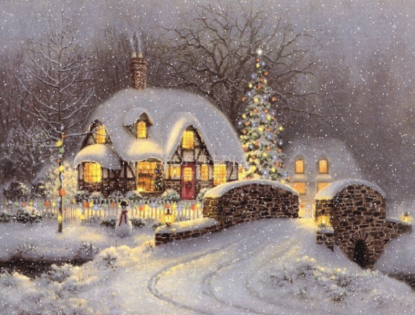vignette design: Merry Christmas to All, and to All a Good Night!