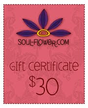 gift certificate 30 - Giveaway drawing: What's your soul flower?