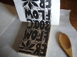 printing9 - Process: New Soul Flower Block Print Tee!