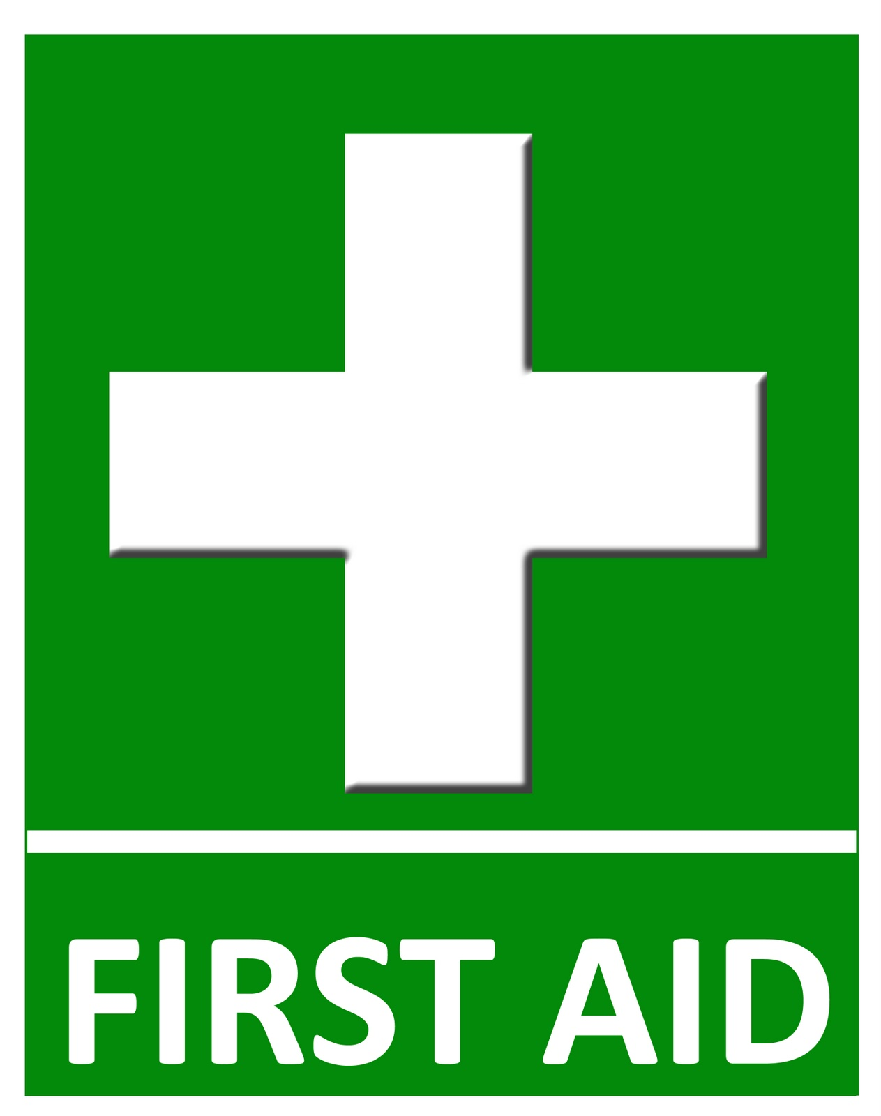 Unusual image with first aid sign printable