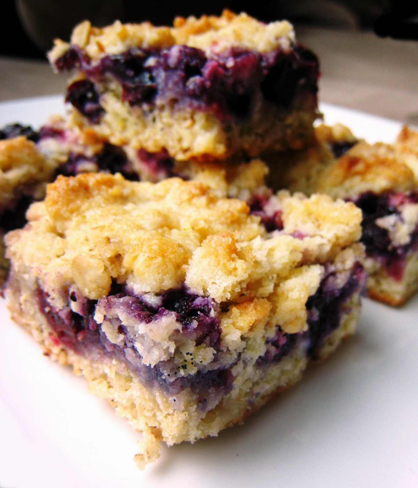 Raspberry Blueberry Crumb Bars , (adapted from Smitten Kitchen )