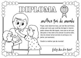 diploma dia dos pais gif Atividades para o dia dos pais para crianças