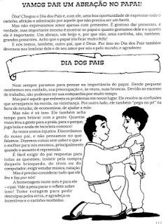 dia dos pais Atividades para o dia dos pais para crianças