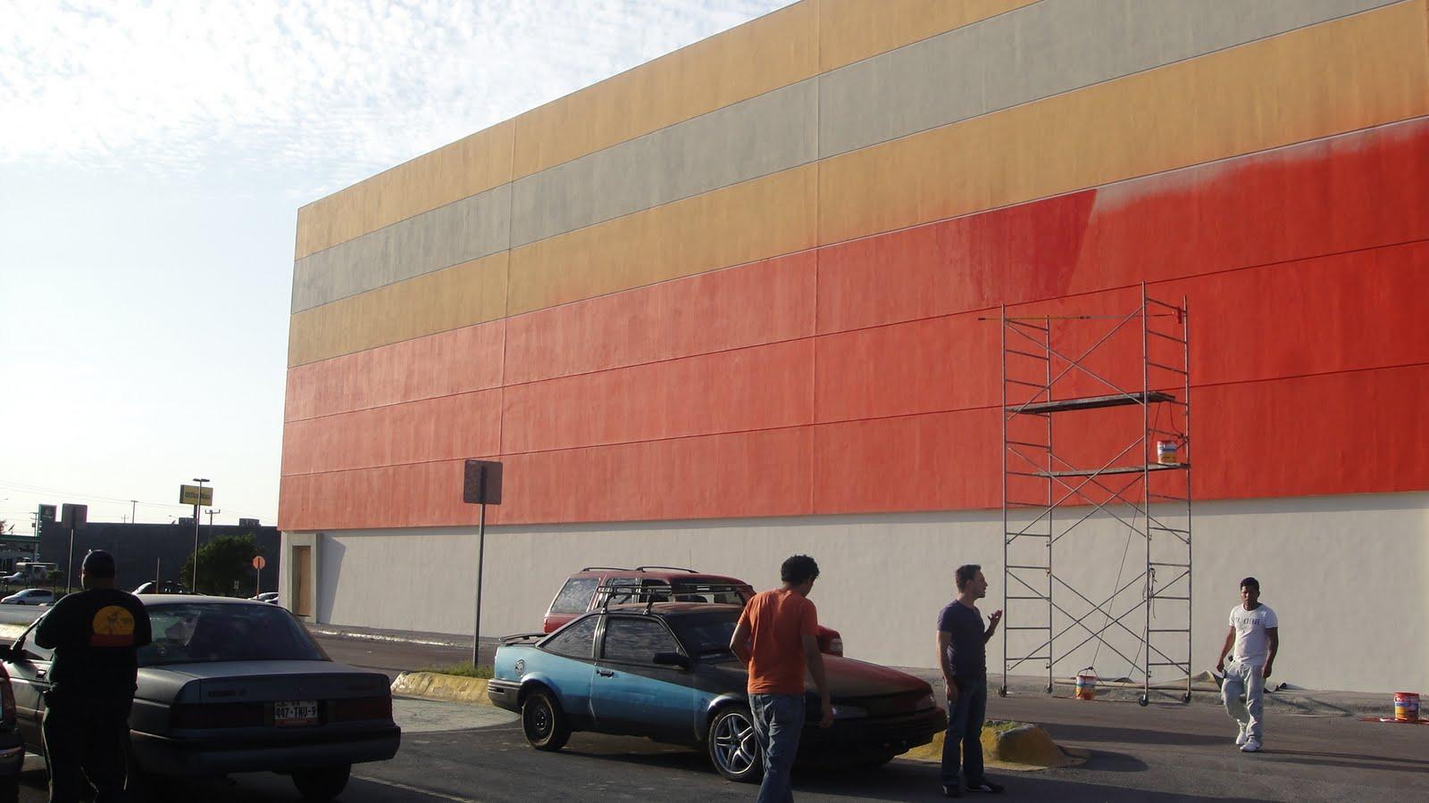 Reynosa 6 aplicaci n pintura fachada exterior retiro - Pintura fachada exterior ...