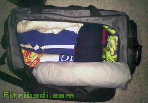 beg pakaian baju seluar gulung sumbat packing