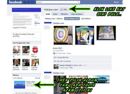 undi like contest azam tahun 2011