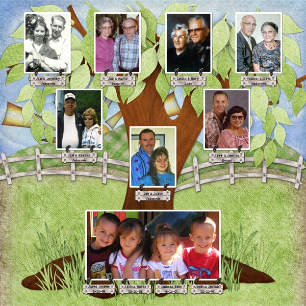 Gomez And Justin Free Family Tree Template For Children