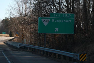 Road Sign: Bucksnort