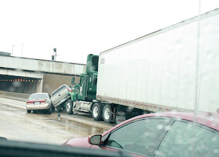 Dallas, TX:Traffic Accident just before Exit 448