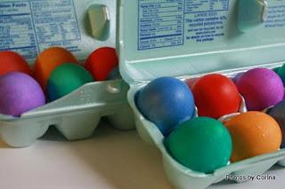 Dyed Eggshells