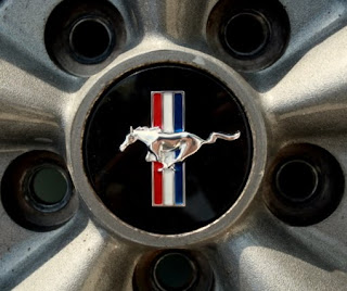 Ford Mustang Logo on Mustang GT rim
