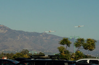 2 Airplanes Returning from Re-seeding Mountains in Santa Barbara, CA