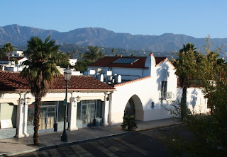 Hotel View overlooking mountains in Santa Barbara, CA