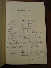 Dedicatoria de Matilde Asensi al blog