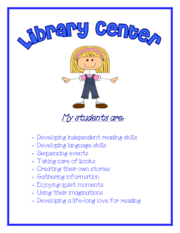 Classroom Welcome Ideas Center Signs