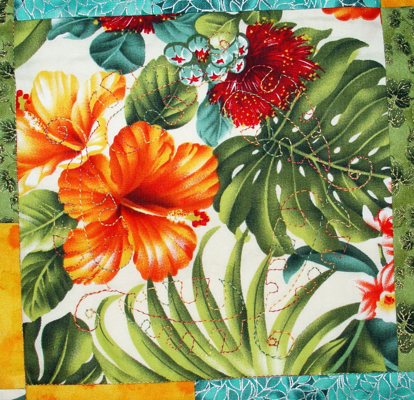Hawaiian Leaf Border In the border which is the