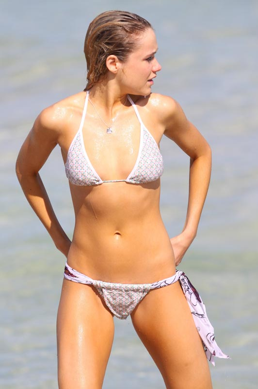 Get him amber higlett bikini photo