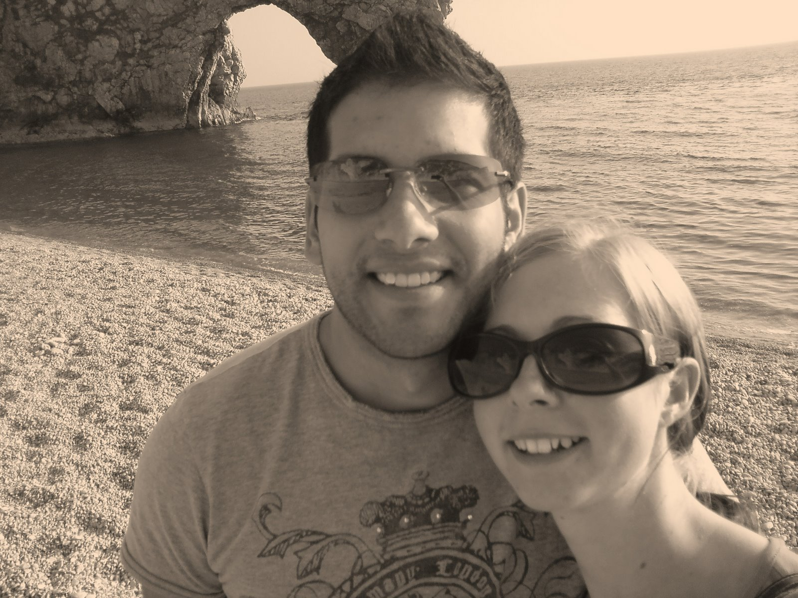 Me and my new guy on the beach at Durdle Door!