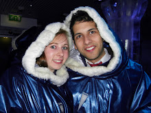 Adam and I in the Ice Bar, London!