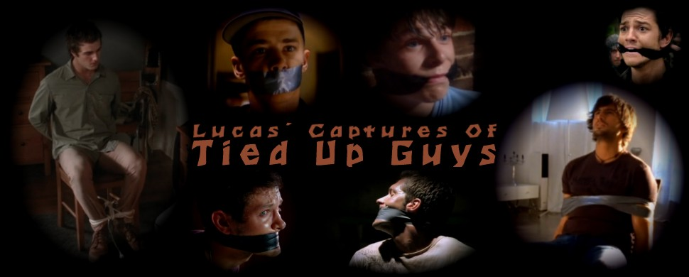 Guys captured, tied up and gagged with tape from TV series and movies