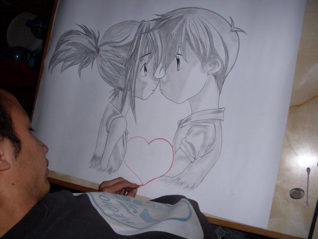 Magnífico Colorear Parejas De Anime Elaboración - Enmarcado Para ...