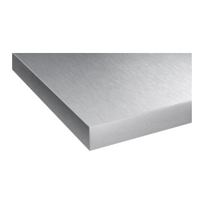 Home decor budgetista luxe for less stainless steel for Stainless steel kitchen countertops ikea