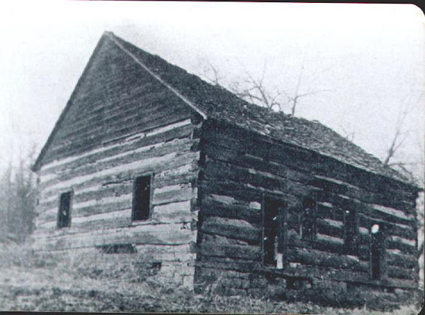 Dunnings Creek Meetinghouse, original structure. Fishertown, Bedford Co., PA