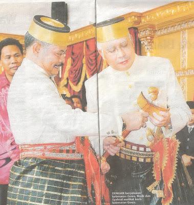Datuk Seri Najib dan isteri diraikan penuh adat kebesaran diraja Gowa