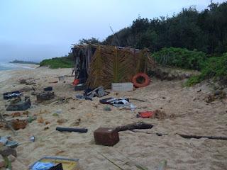 setting up a scene on the beach near Camp Erdman Filming Update - 27th Jan