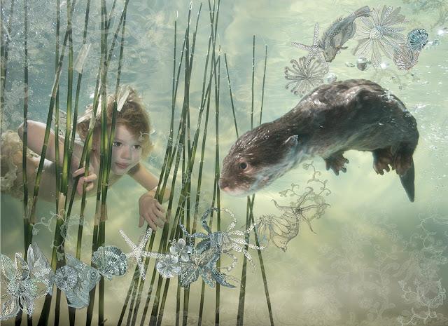 Zena Holloway, bambino e foca sott'acqua