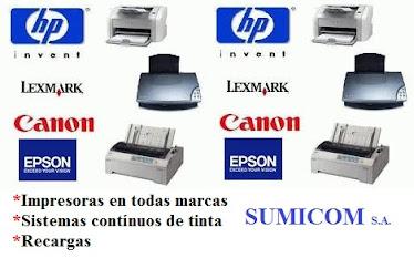 IMPRESORAS HP-CANON-SAMSUNG-LEXMARK-EPSON