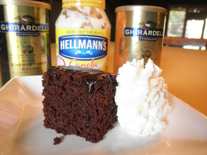 Food Pusher: Chocolate Mayonnaise Cake
