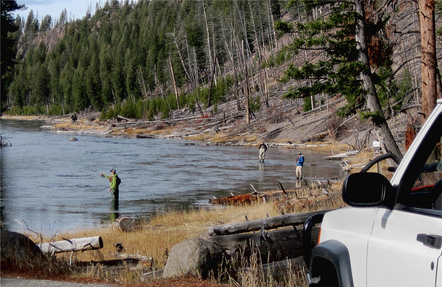 Fly fishing in yellowstone national park party down for Yellowstone national park fishing
