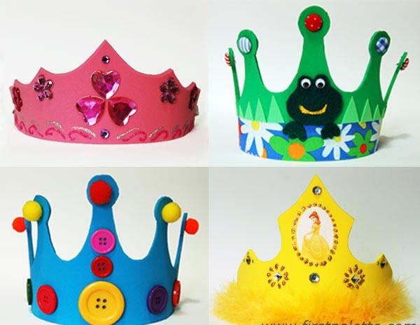 Coroas de eva e papel modelos e moldes blog for Art and craft crown