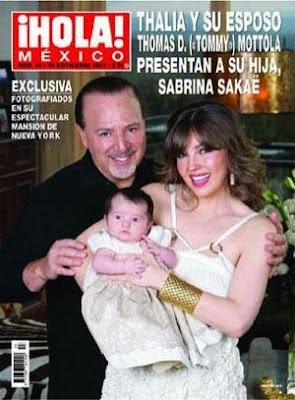 Tommy Mottola con Thalía y su hija