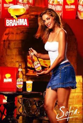 Sofía Franco en comercial de Brahma