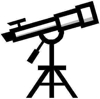 Dibujo telescopio para colorear