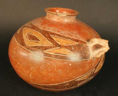Ceramica+Chorrera+de+Ecuador+-+Cantaro+policromo+zoomorfo+serpiente