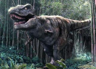 Tiranosaurio dentro del bosque