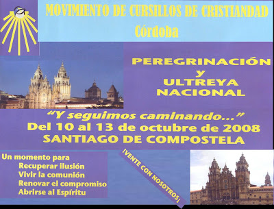 Cartel anunciador de la Ultreya