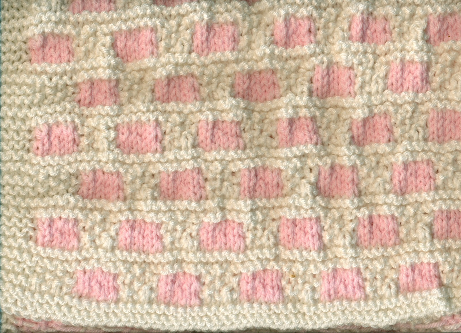 Yarn and tell knitted baby hats scarf blankets pretty in pink baby girl blanket knitted two color baby girl hats bankloansurffo Image collections