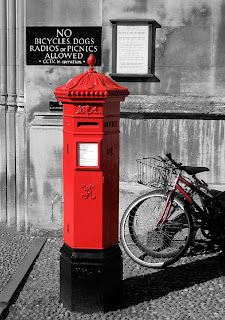 Red Mailbox in a Grey World