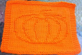 Pumpkin Knit Dishcloth Pattern