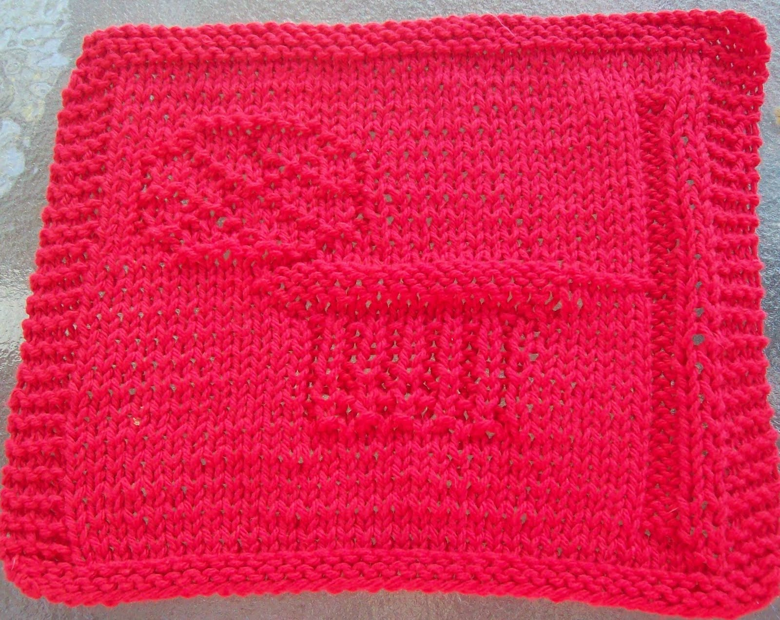DigKnitty Designs: Basketball Hoop Knit Dishcloth Pattern