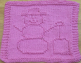 Free Knitted Dishcloth Patterns Snowman : DigKnitty Designs: Snowman with Shovel Knit Dishcloth Pattern