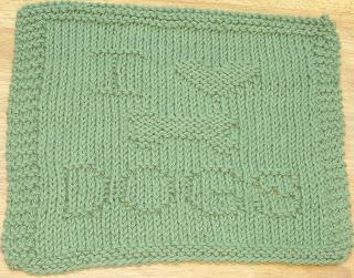 DigKnitty Designs: I Heart Dogs Knit Dishcloth Pattern